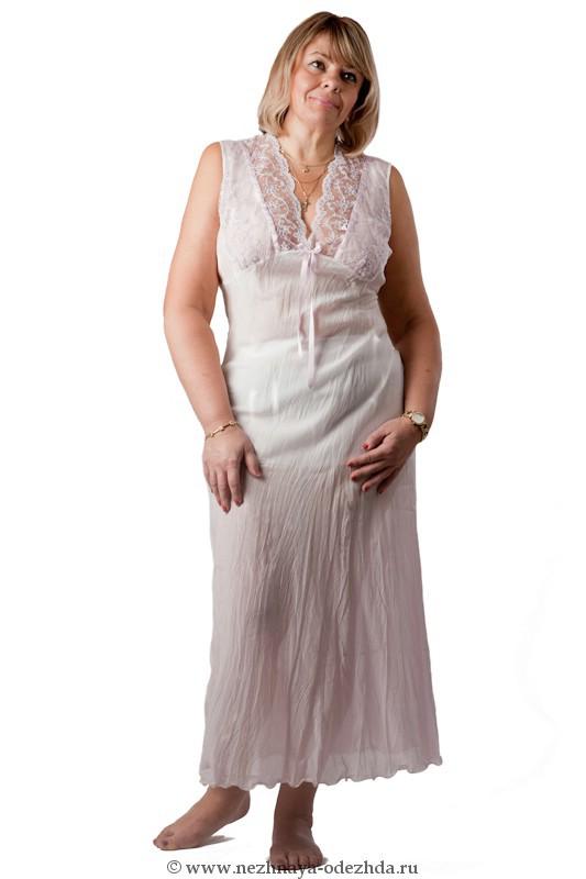 Ночная сорочка из жатого хлопка Rossella (Домашние платья и ночные сорочки)