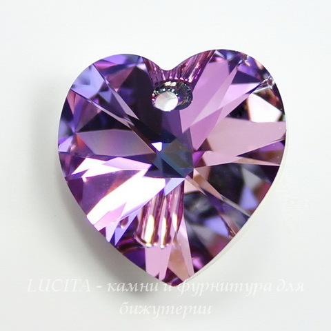 6228 Подвеска Сваровски Сердечко Crystal Vitrail Light (18х17,5 мм)