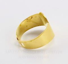 Основа для кольца с площадкой 15х11 мм (цвет - золото)