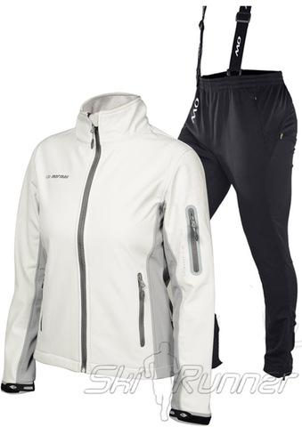 Женский лыжный утепленный костюм Mormaii White/Light Grey Noname Samuel