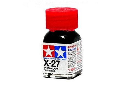 X-27 Краска Tamiya Прозрачно-красная (Clear Red), эмаль 10мл