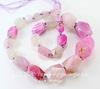 Бусина Агат с огранкой, цвет - розовый, нить ()