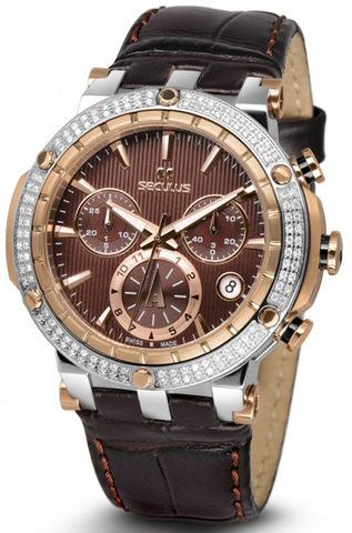 Купить Наручные часы Seculus 1682.2.503D LBr 2TRst Br по доступной цене