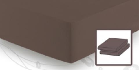 Элитная простыня трикотажная 8000 коричневая от Elegante