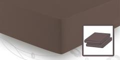 Простыня трикотажная 90-110x200 Elegante 8000 коричневая