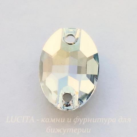 3210 Пришивные стразы Сваровски Crystal Blue Shade (10х7 мм)