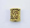"""Бусина металлическая """"Спирали"""" (цвет - античное золото) 8х7 мм"""