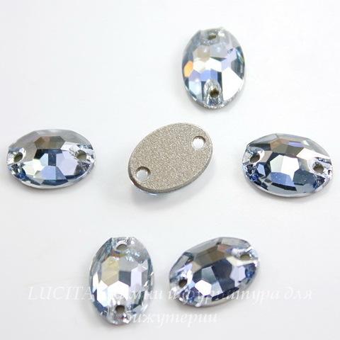 3210 Пришивные стразы Сваровски Crystal Blue Shade (10х7 мм) ()