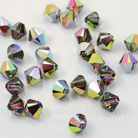 5328 Бусина - биконус Сваровски Crystal Vitrail Medium  6 мм, 5 штук ()