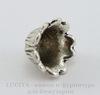 """Шапочка для бусины """"Колокольчик"""" (цвет - античное серебро) 15х11 мм"""