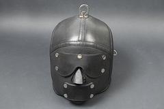 БДСМ шлем «Слеп, нем и фиксирован»