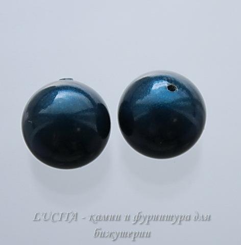 5818 Хрустальный жемчуг Сваровски Crystal Petrol круглый с несквозным отверстием 4 мм, 4 штуки