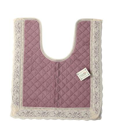Элитный коврик для унитаза Валансье розовый от Old Florence