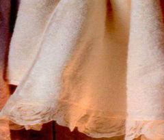 Набор полотенец 2 шт Casa Anversa Rosy с кружевом кремовый