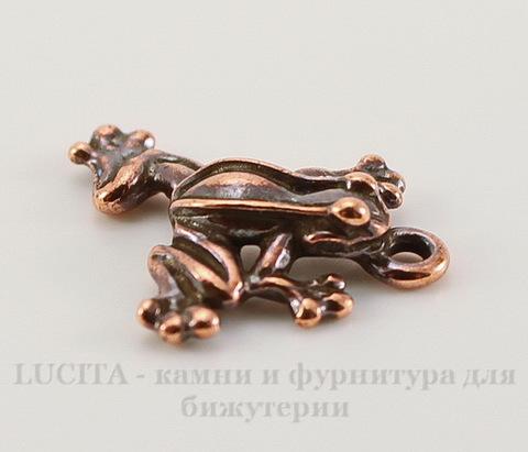 "Подвеска TierraCast ""Лягушка"" (цвет-античная медь) 20х16 мм"
