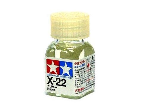X-22 Краска Tamiya Прозрачная (Clear), эмаль 10мл