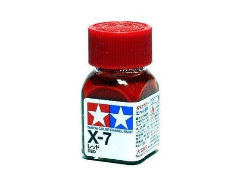 X-7 Краска Tamiya Красная Глянцевая (Red), эмаль 10мл