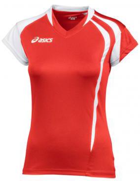 Женская волейбольная футболка Asics T-Shirt Fanny Lady red (T751Z1 2601)