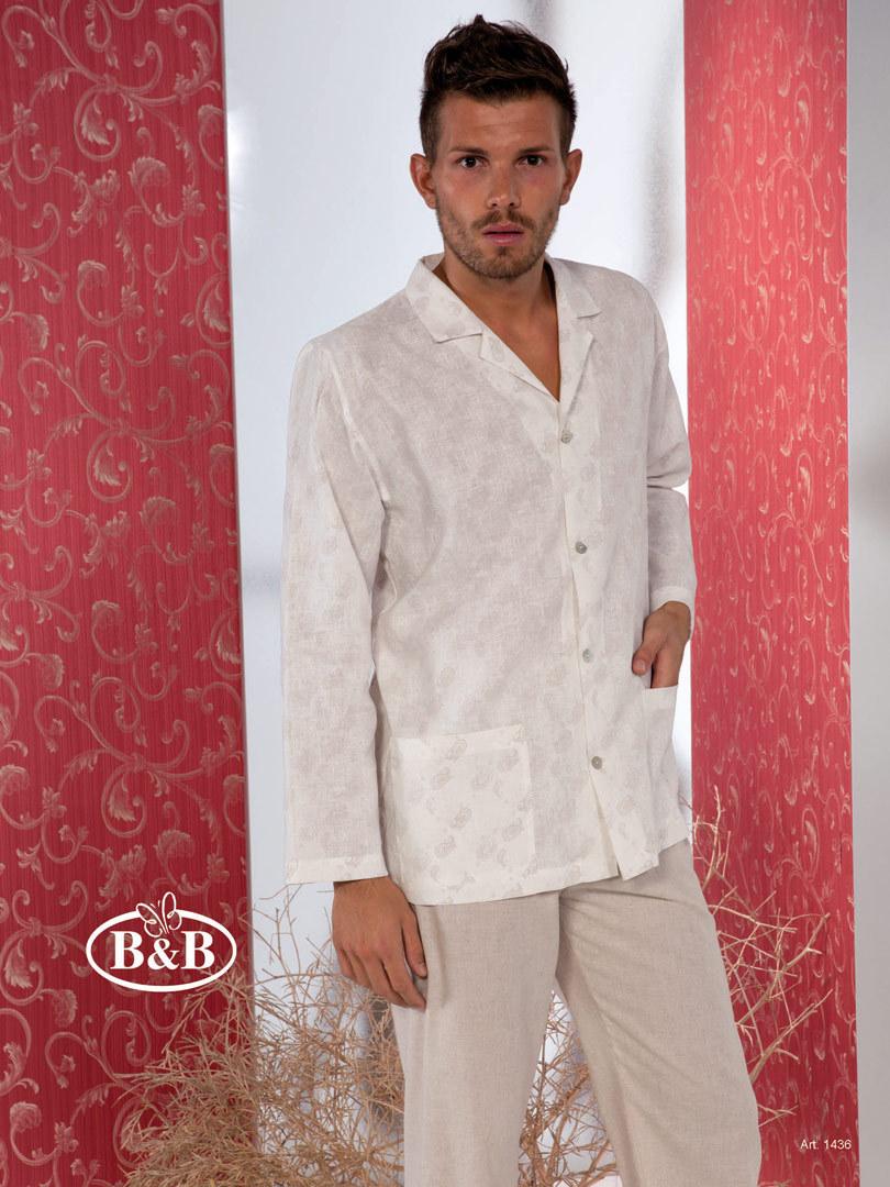 Льняная мужская пижама B&B (Домашние костюмы и пижамы)