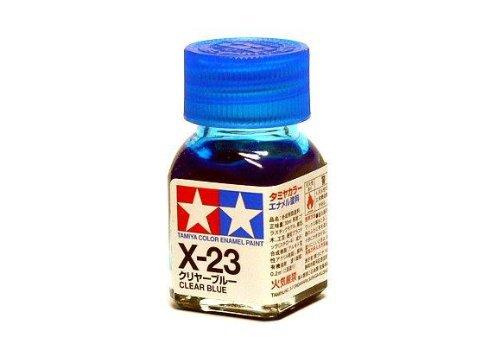 X-23 Краска Tamiya Прозрачно-синяя (Clear Blue), эмаль 10мл