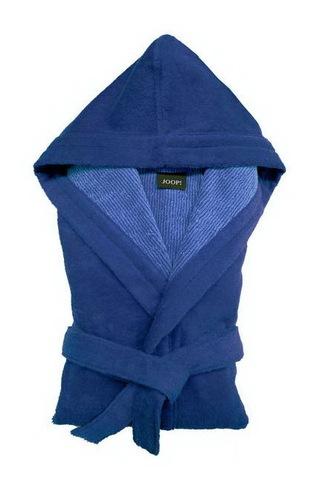 Элитный халат велюровый 1619 синий от Joop! - Cawo