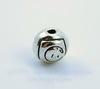 """Бусина металлическая """"Розы"""" (цвет - античное серебро) 7 мм, 10 штук"""
