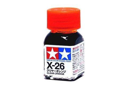 X-26 Краска Tamiya Прозрачно-оранжевая (Clear Orange), эмаль 10мл