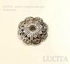 "Шапочка для бусины ""цветок"" (цвет - античное серебро) 12х2,5 мм, 10 штук ()"