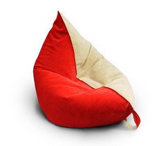 Кресло подушка Красно-Бежевая