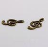 """Подвеска """"Скрипичный ключ"""" (цвет - античная бронза) 22х12 мм"""