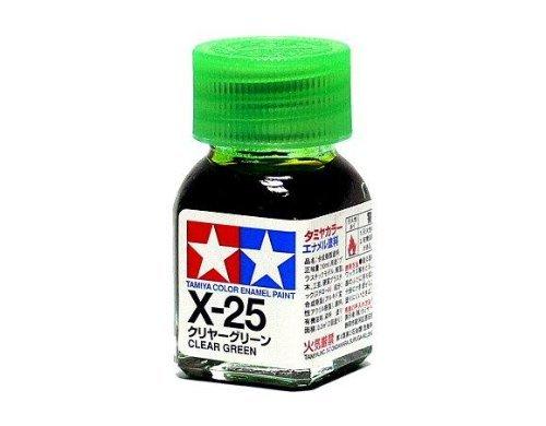 X-25 Краска Tamiya Прозрачно-зеленая (Clear Green), эмаль 10мл