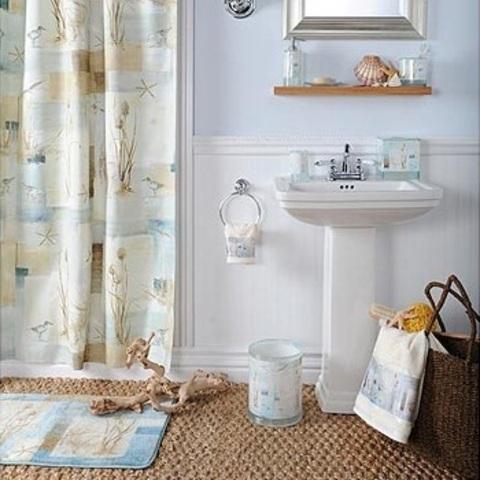 Элитная шторка для ванной Blue Waters от Avanti
