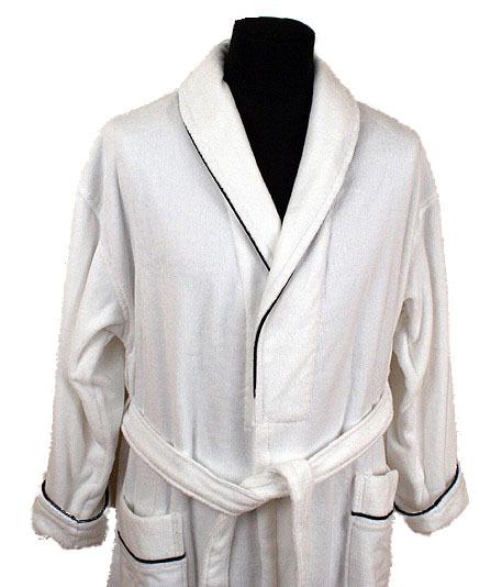 Элитный халат махрово-велюровый Dean white от Vossen