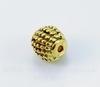 Бусина металлическая шипастая (цвет - античное золото) 9 мм
