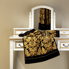 Элитная наволочка декоративная шенилловая Sanssouci 10 schwarz от Feiler
