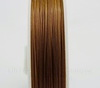 Тросик ювелирный 0,45 мм (цвет - темное золото) примерно 70 метров