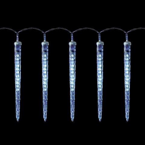 Гирлянда светодиодная «Прозрачные тающие сосульки мульти», CL115 (Feron)