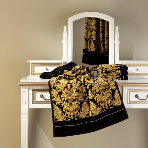 Элитная косметичка шенилловая Sanssouci TT6 10 schwarz от Feiler