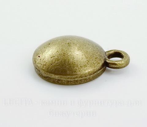 Сеттинг - основа - подвеска для страза 10 мм (цвет - античная бронза) 16х12 мм ()