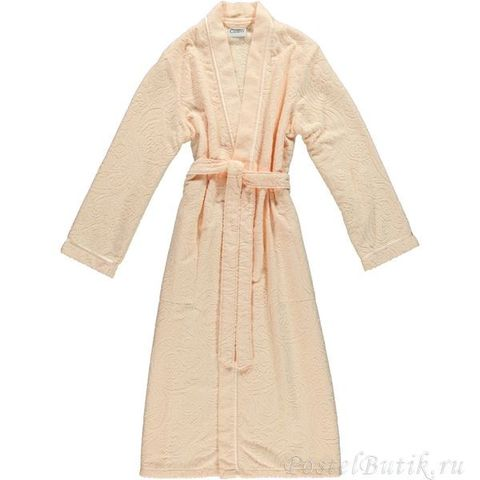 Элитный халат махровый 7131 абрикосовый от Cawo