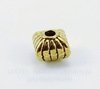 Бусина металлическая (цвет - античное золото) 7х7 мм