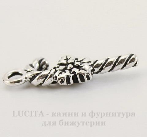 """Подвеска TierraCast """"Сладкая тростинка"""" (цвет-античное серебро) 25х10 мм"""
