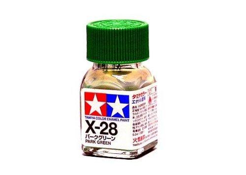 X-28 Краска Tamiya Травянисто-зеленная (Park Green), эмаль 10мл