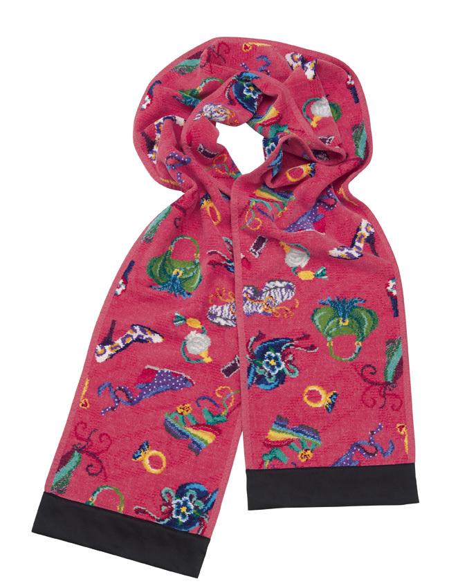 Элитный плед-шарф шенилловый Cosas Locas 133 pink от Feiler