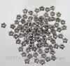 """Бусина металлическая """"Цветы"""" (цвет - античное серебро) 7 мм, 10 штук ()"""