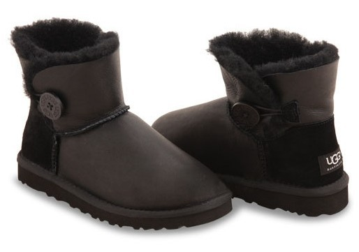 UGG Bailey Button Mini Metallic Black