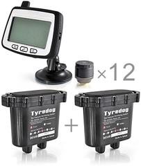 Датчики давления в шинах (TPMS) Carax CRX-1012/6+6 с 12-ю датчиками