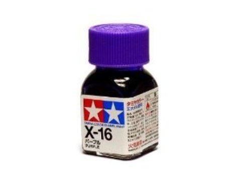 X-16 Краска Tamiya Фиолетовая Глянцевая (Purple), эмаль 10мл