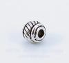 Бусина металлическая (цвет - античное серебро) 5х5 мм, 10 штук