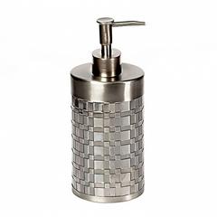 Дозатор для жидкого мыла Basketweave Silver от Avanti
